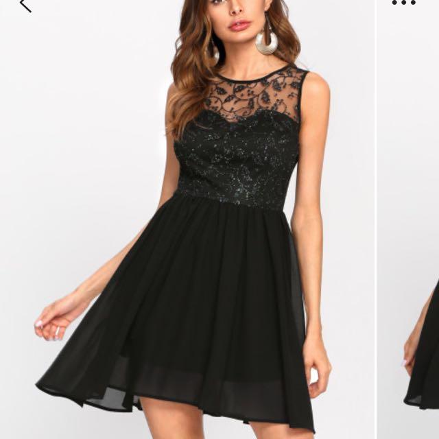 BRAND NEW!!! Black Mini Dress