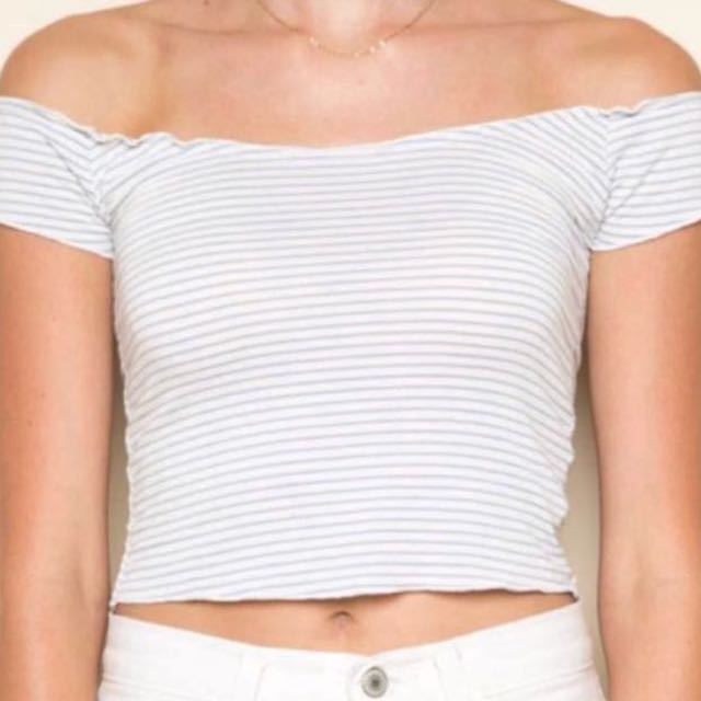 6ce6e37900a08 brandy melville anya off the shoulder top
