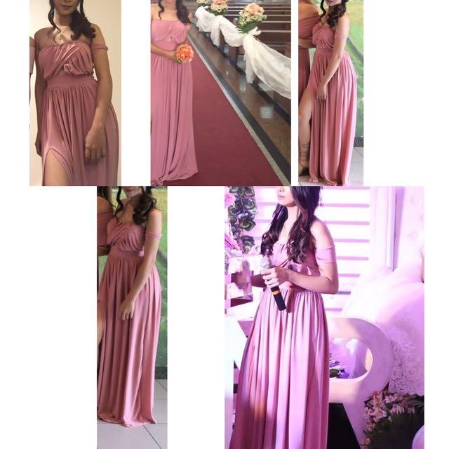 Bridesmaid Dress Rosegold