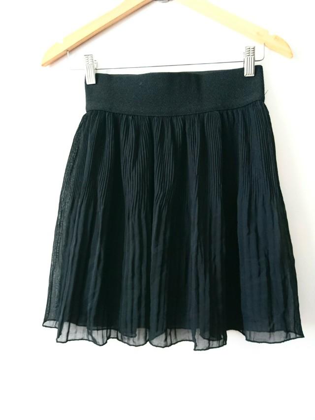 Zara Chiffon black skirt