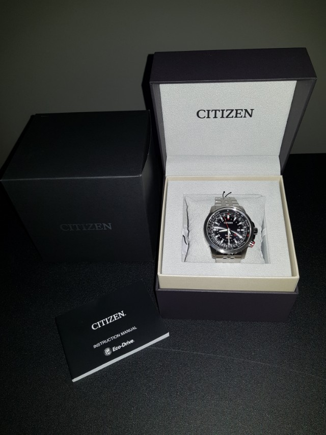Citizen Bj7071 54e Eco Drive Promaster Sky Gmt Mens Watch Luxury