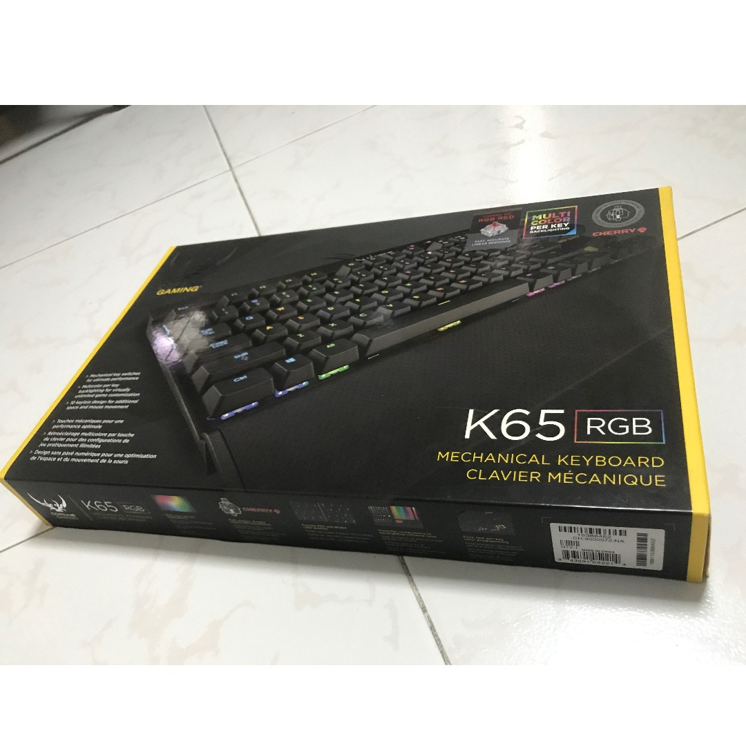 Corsair K65 Rgb Gaming Keyboard Electronics Computer Parts Mechanical Red Switch Accessories On Carousell