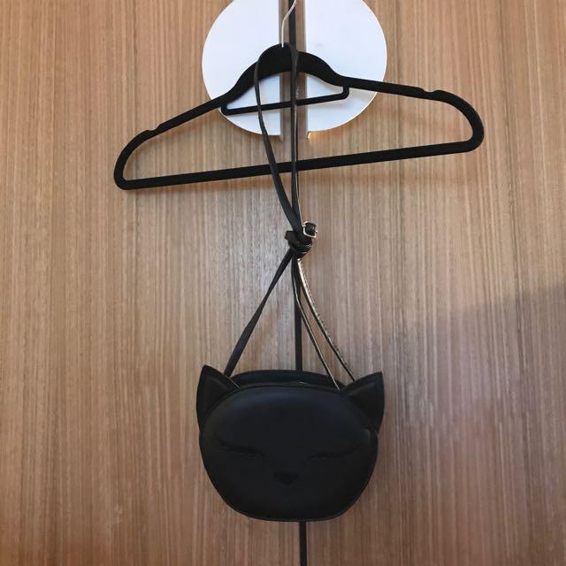 Cute black cat shaped shoulder bag