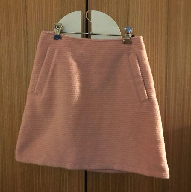 Cute fuzzy pink skirt