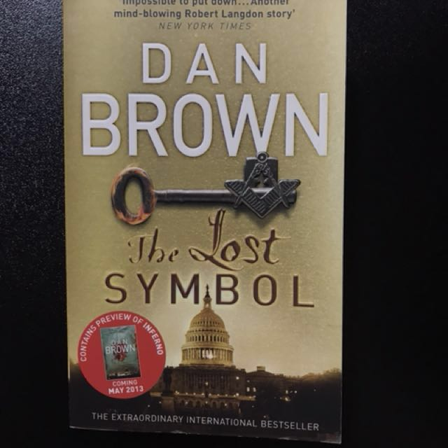 Dan Brown The Lost Symbol Books Stationery Books On Carousell