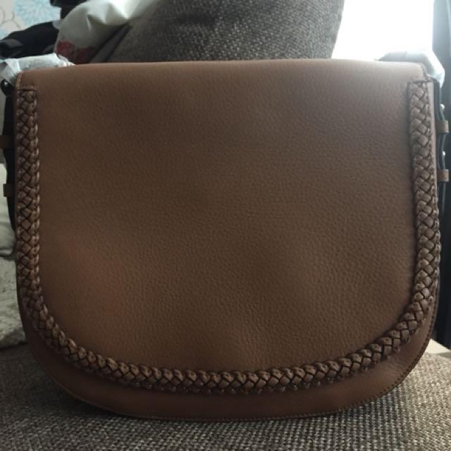 Danier Leather Cognac Saddle Bag