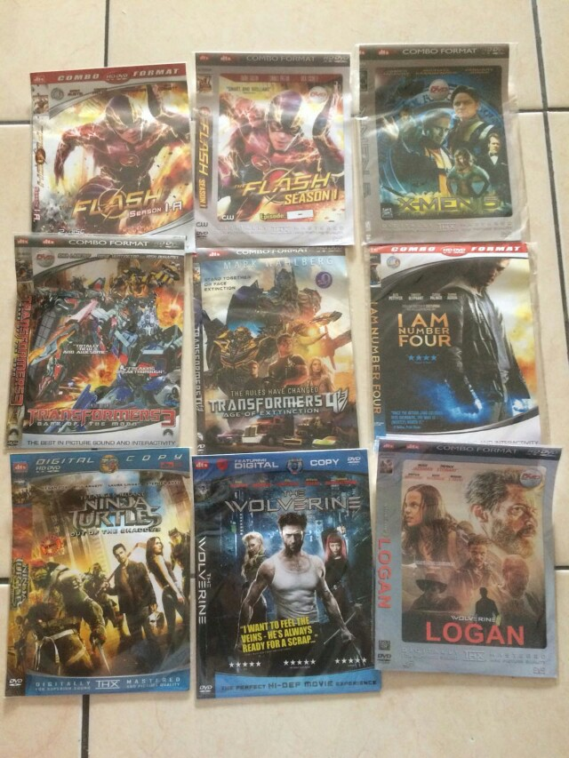 Dvd action, superheroes, dll. Eks pakai sendiri