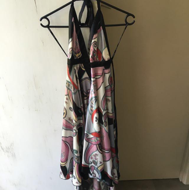 Elle World Size 6 Shimmer Halter Dress