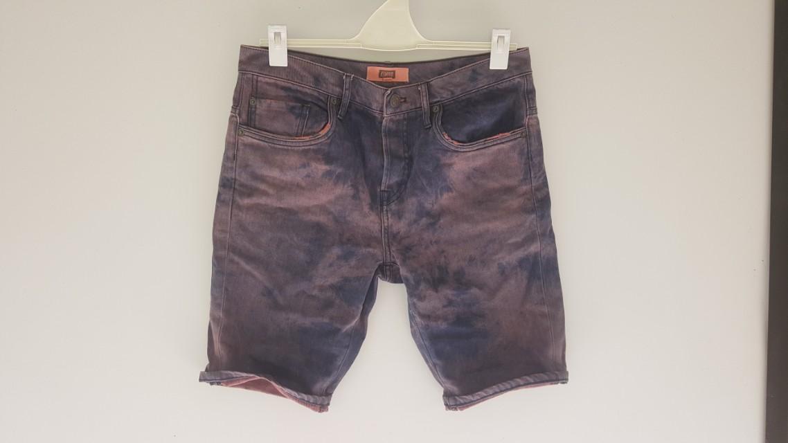Elwood Slim/Skinny Purple Shorts 32