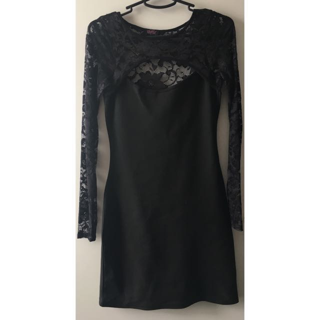 EVITA Black Lace Dress