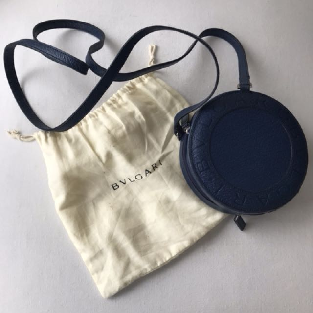 Excellent condition Authentic Bulgari navy sling bag with dustbag