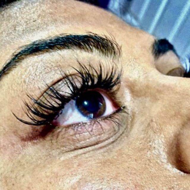 Eyelash extensions classic set for $60