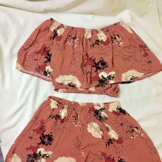 Floral Pink Culottes/Pajama Coordinates