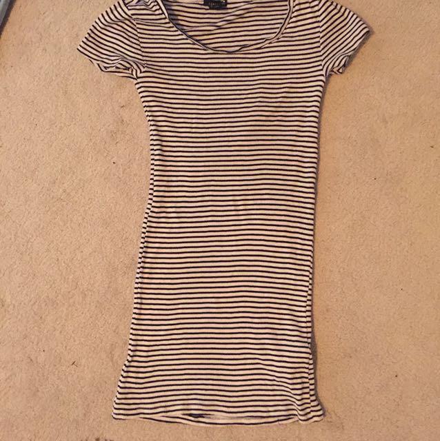 Forever 21 - Striped Black and White dress