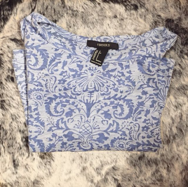 Forever 21 Paisley Crop Top