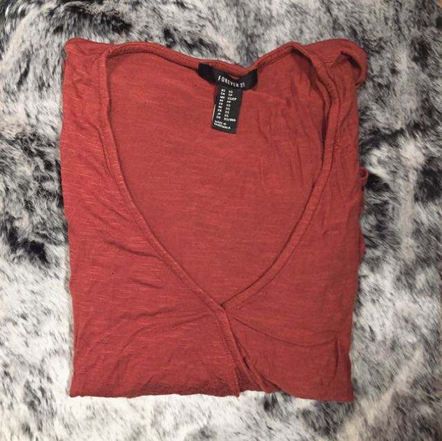 Forever 21 red cross long sleeve