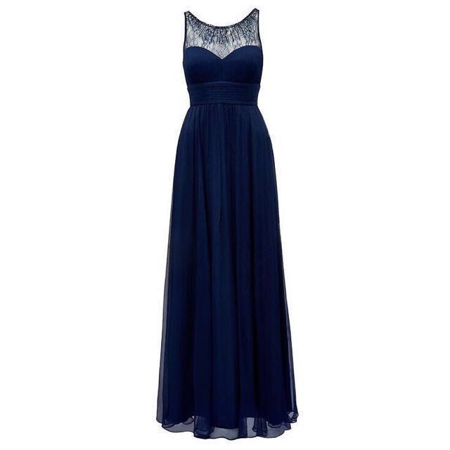 Forever New Navy Embellished Dress