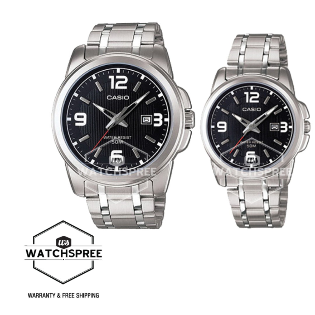 d7328890eb5f FREE DELIVERY  CASIO COUPLE WATCH GENUINE   LMTP1314D-1A  100 ...