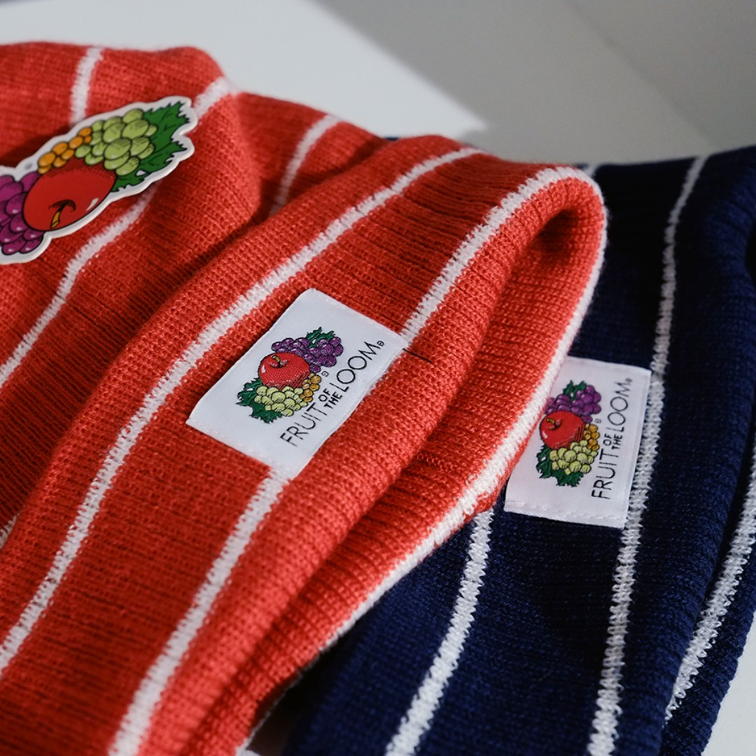 Fresh Loots / 美國 Fruit of the Loom Beanie 水果牌 條紋毛帽