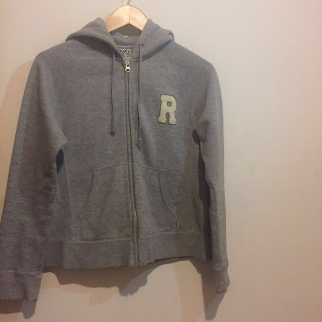 Gray Roots Zip Up Sweater