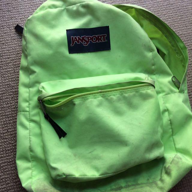 Green jansport bag