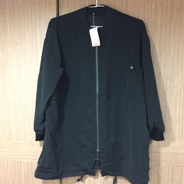 GU 長版軍裝大衣