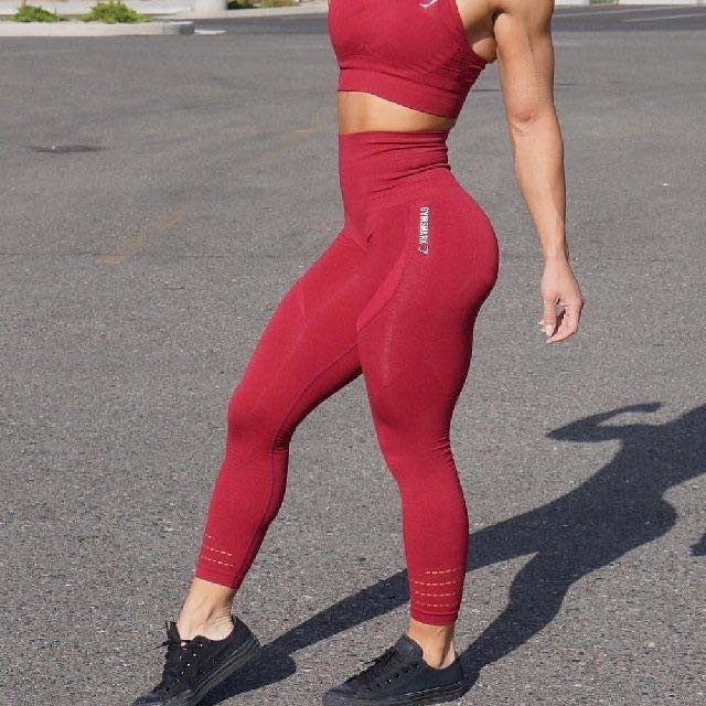 5e6dccb25d631 Gymshark Seamless Leggings Beet Marl, Women's Fashion, Clothes, Pants,  Jeans & Shorts on Carousell