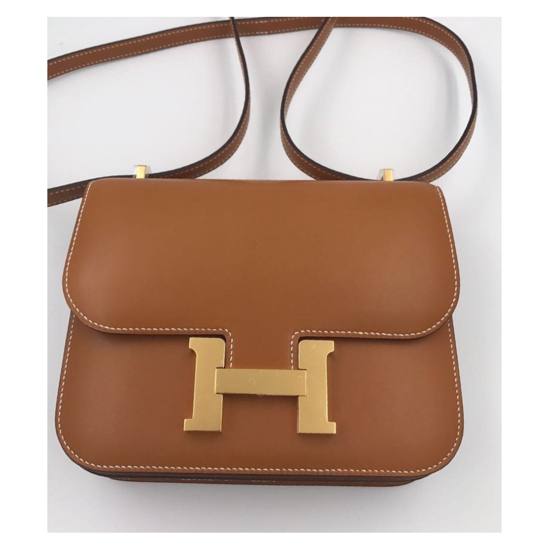 ... spain hermès constance 18 fauve barenia natural gold hardware ghw a  stamp luxury bags wallets on ... 64a740e001d1c