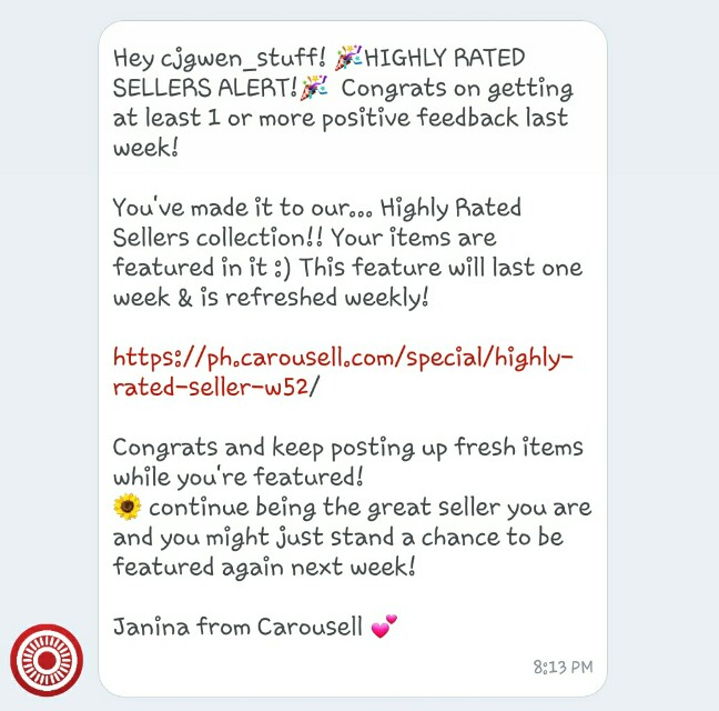 Highly Rated  Seller! Carouseller