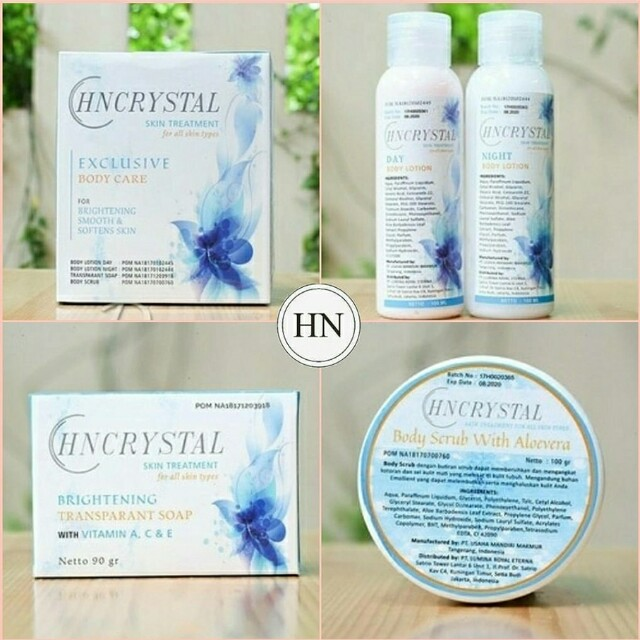 HN CRYSTAL WHITENING BODY CARE COMPLETE PACKAGE
