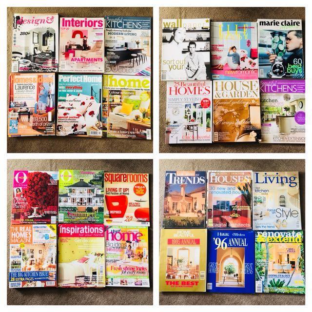 Home Interior Decoration Magazines x 56 issues