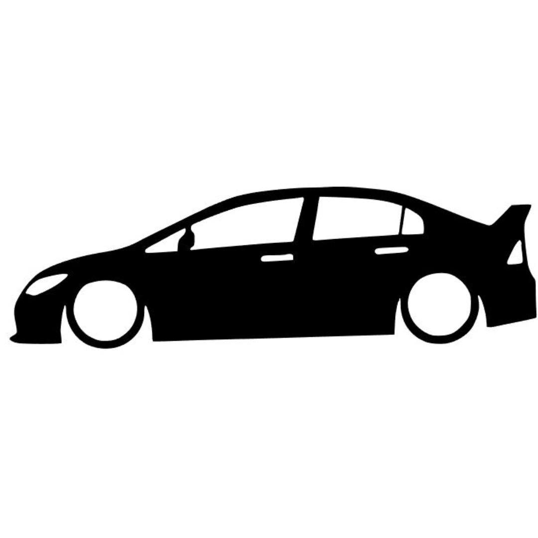 Honda Civic FD2R Silhouette Decal, Design & Craft, Others on Carousell