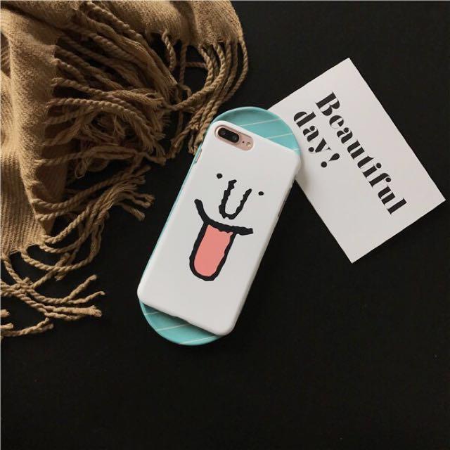 劉亞仁同款笑臉磨砂硬殼手機殼Iphone7