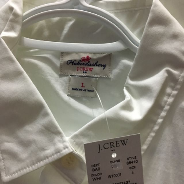 J Crew White Oxford