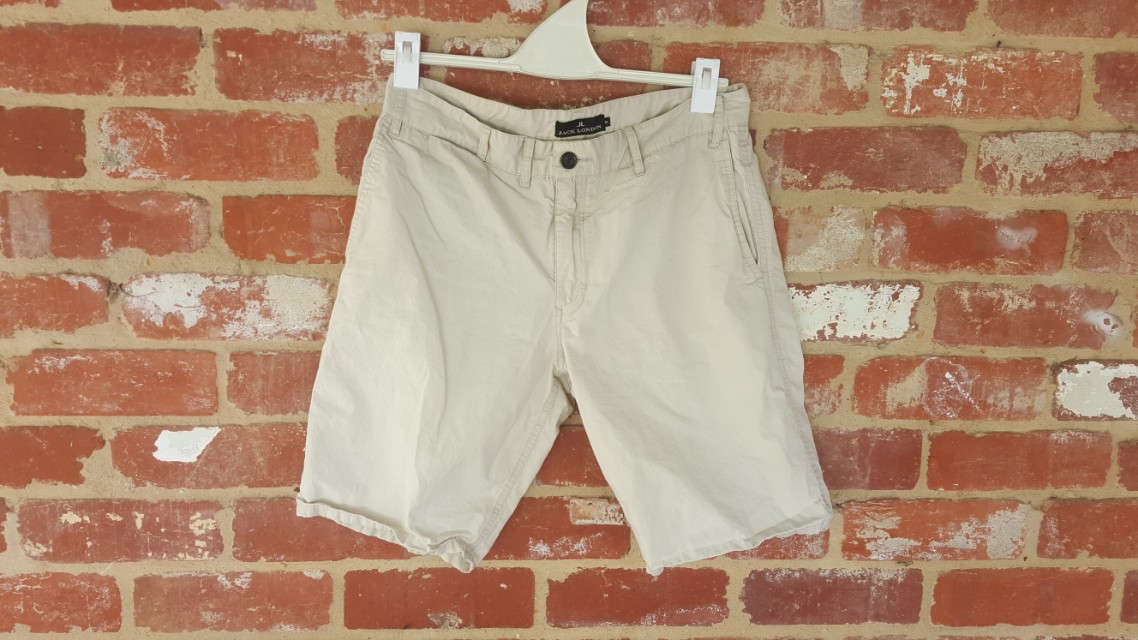 Jack London Cream Slim Shorts 32 Off White Summer Light