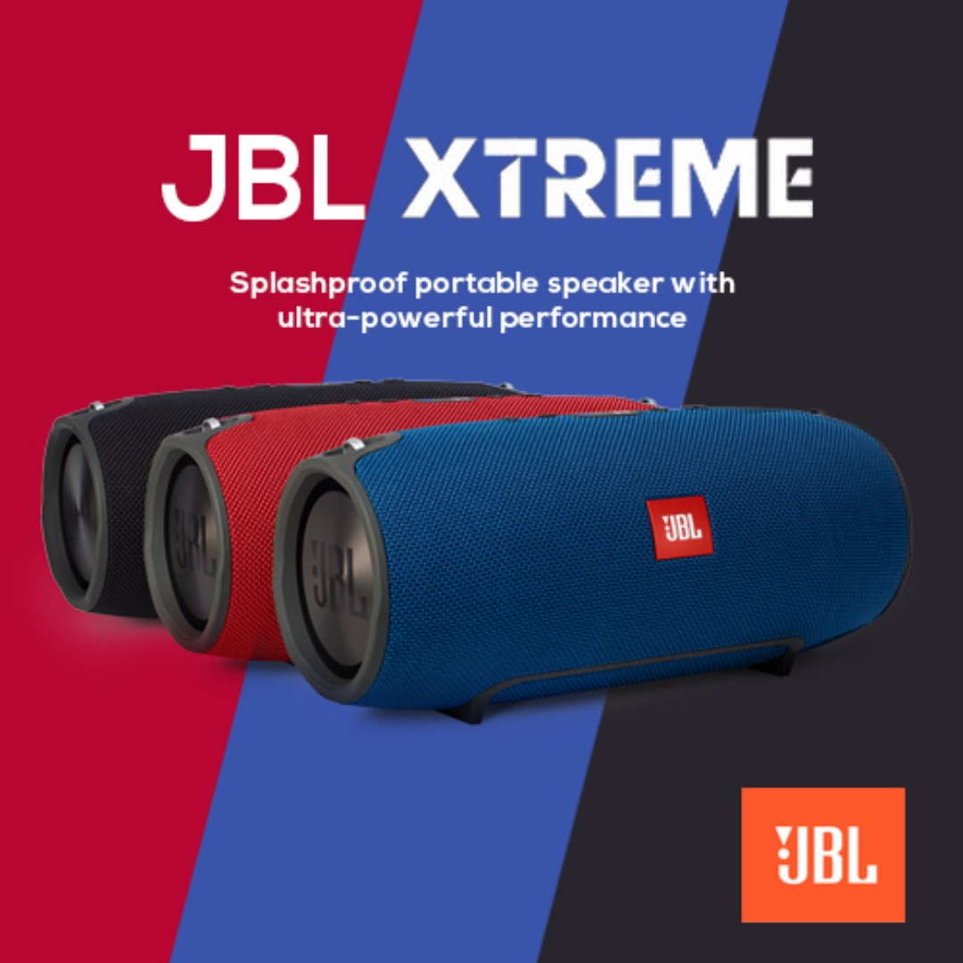Jbl Xtreme Splashproof Portable Bluetooth Speaker Best Seller Worth Charge 3 Merah To Buy Electronics Audio On Carousell