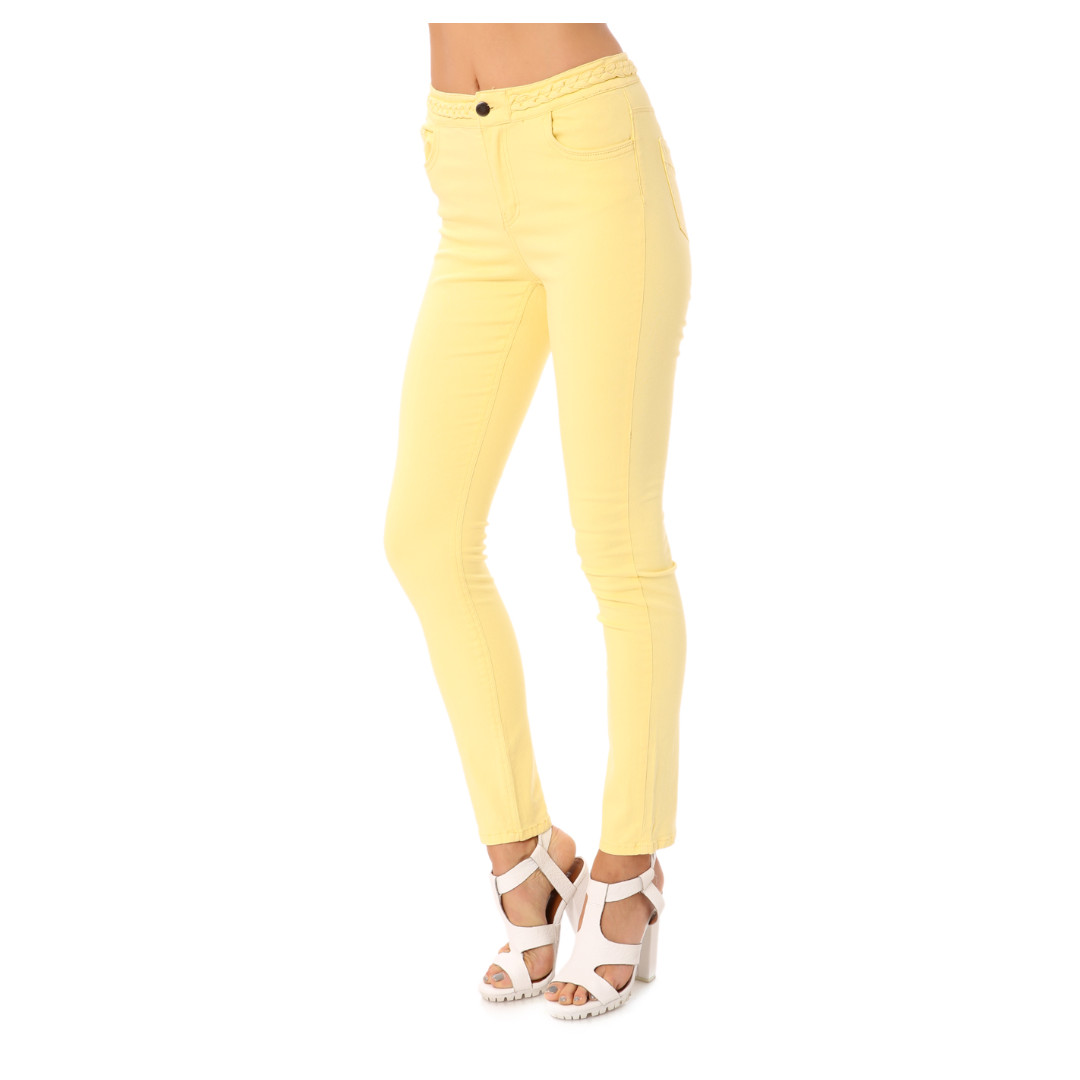 Junk Braided High Waist Yellow Jeans Size 12