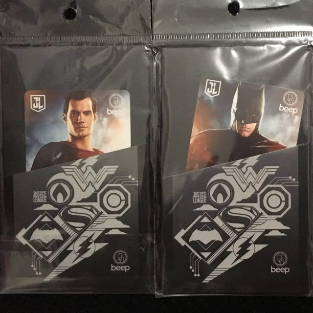 Justice League Limited Edition Beep Cards (Batman, Wonder Woman, Superman)