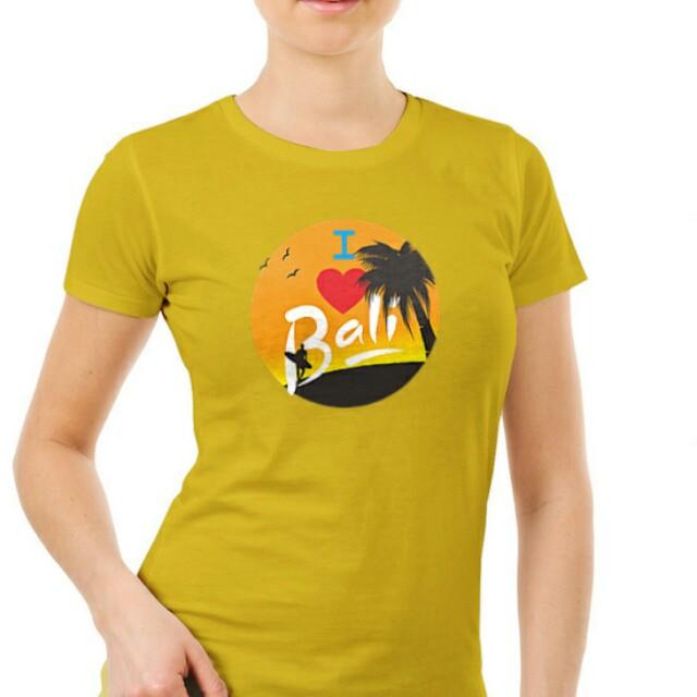 Kaos Cewek I Love Bali