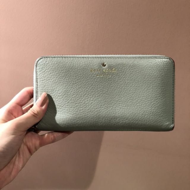 Kate Spade mint leather wallet