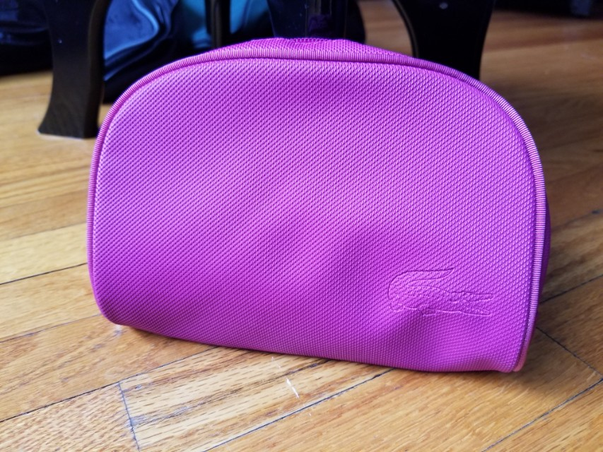 Lacoste pouch clutch makeup toiletries. Practically new. Retails for $99. Pick up Beaches or Yorkville or St.Andrews TTC. Message with preferred time and location. Ad will be removed once sold. Yes it is available.