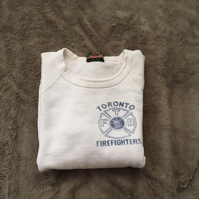 M White Vintage Toronto Firefighters Crewneck
