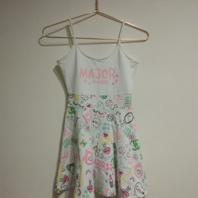 Major made 白色塗鴉小洋裝