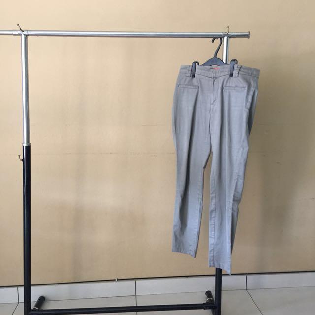 MANGO grey cotton pants