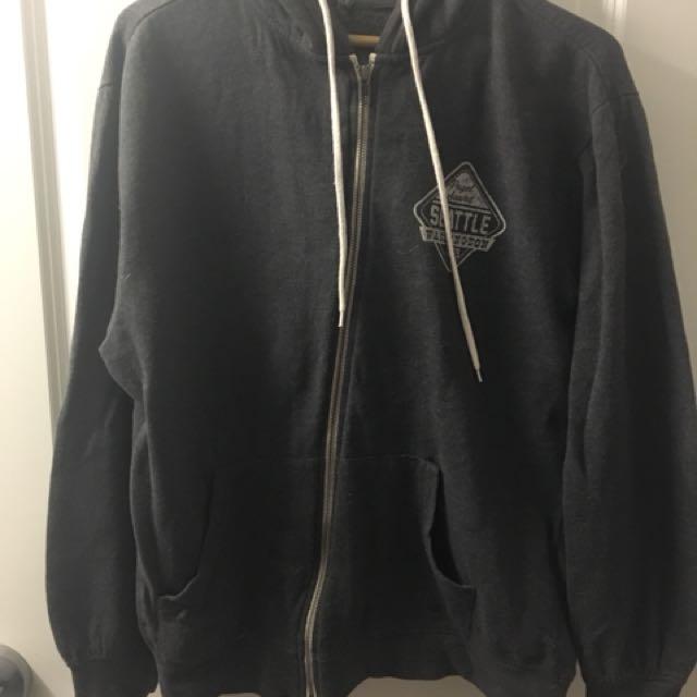 Men's Grey Zip-Up Sweater
