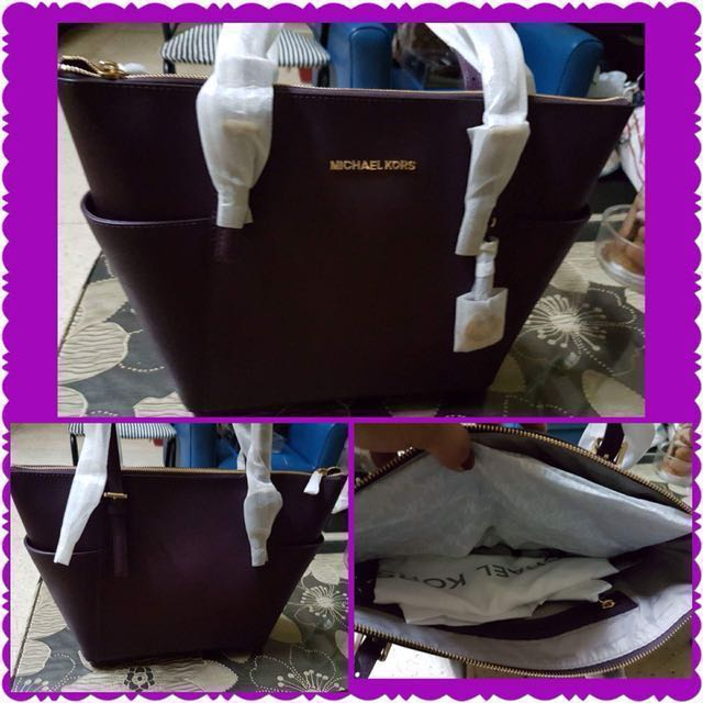Michael Kors in Purple large tote with side pockets 69cb712e0728c