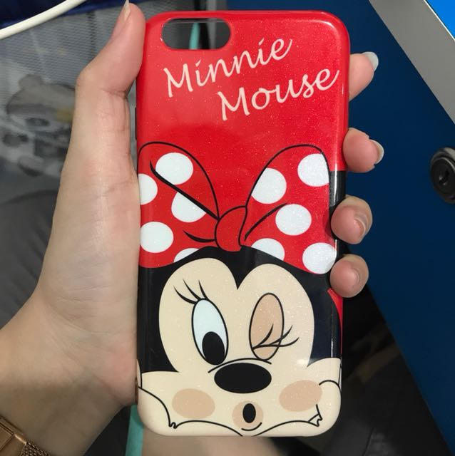 MINNIE SOFTCASE IPHONE 6 (bahan tebel)