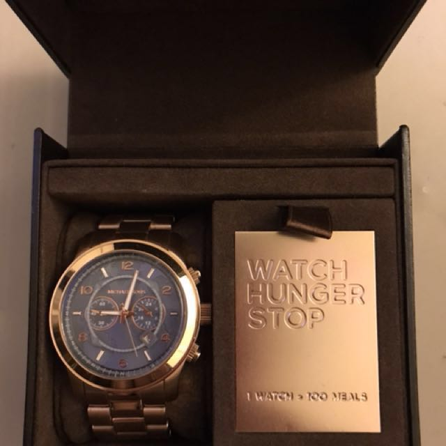 MK 8358 Michael Kors 限量版 簽名手錶 專櫃購買 玫瑰金