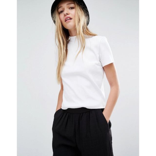 Monki cropped tee basic short sleeves