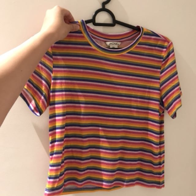monki rainbow striped tee